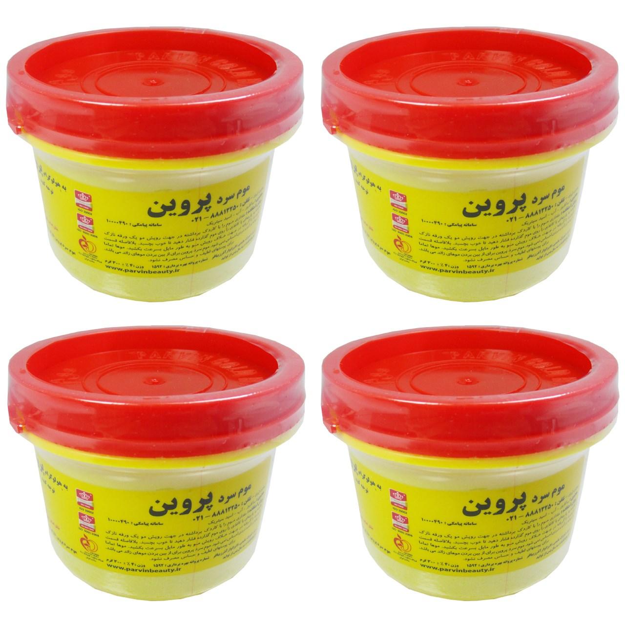 قیمت موم سرد پروین مدل Honey حجم 300 گرم مجموعه 4 عددی