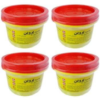 موم سرد پروین مدل Honey حجم 300 گرم مجموعه 4 عددی