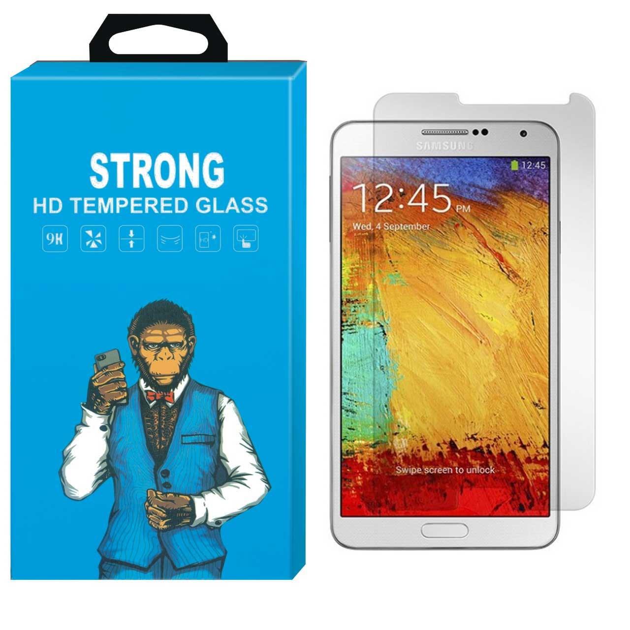 محافظ صفحه نمایش شیشه ای تمپرد مانکی مدل Strong مناسب برای گوشی سامسونگ گلکسی Note 3