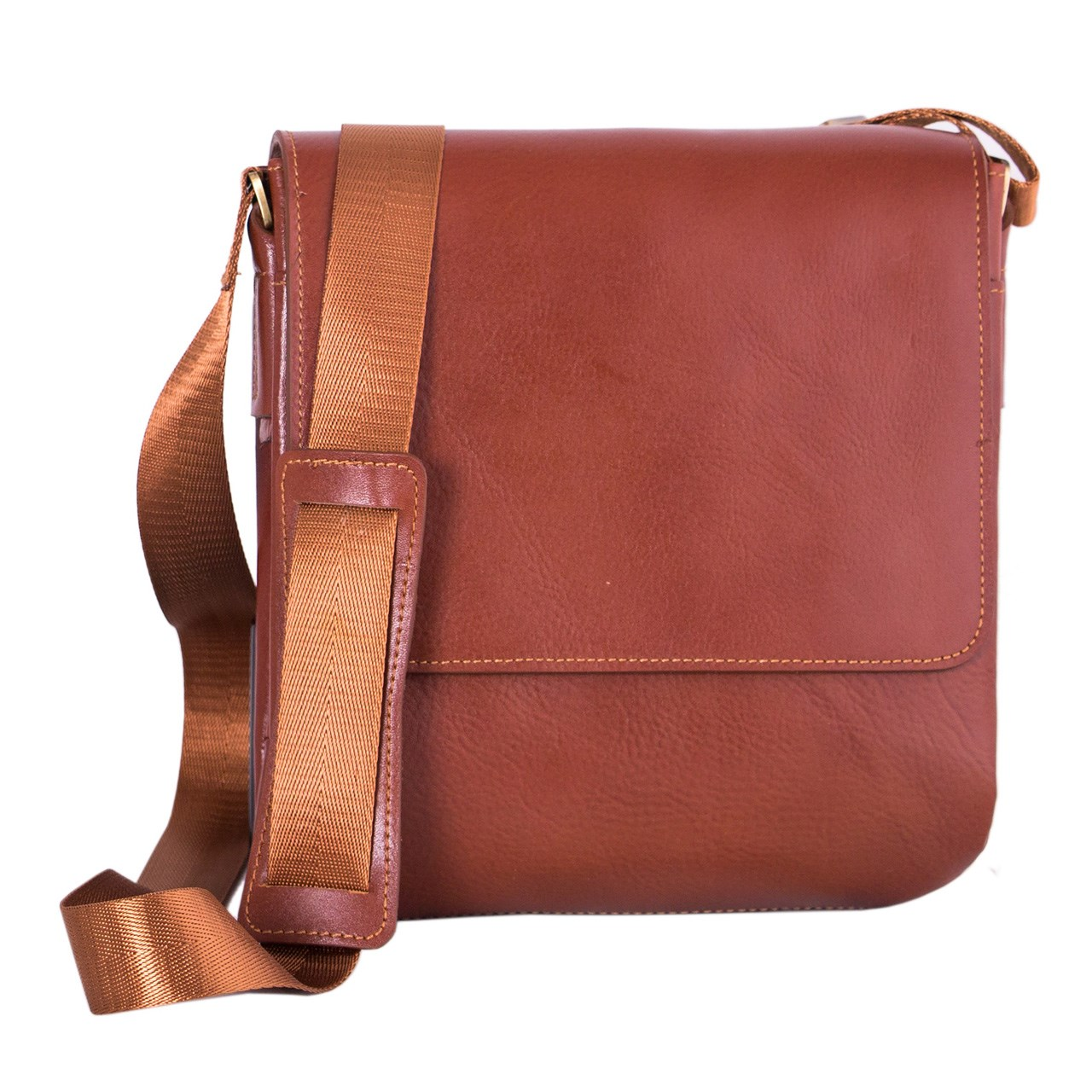 ADINCHARM natural leather satchel, Model DG39