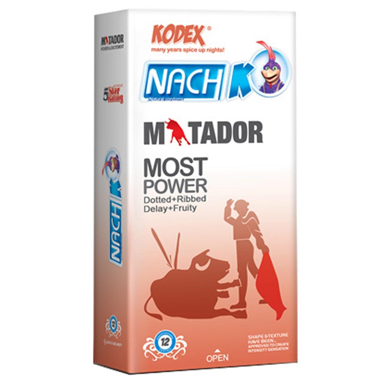 کاندوم خاردار و حلقوی کدکس مدل Matador بسته 12 عددی