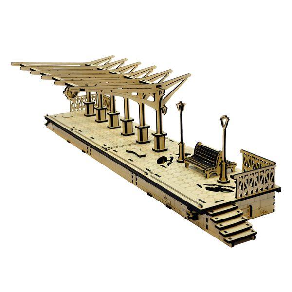 پازل سه بعدی چوبی آرتک مدل ایستگاه راه آهن با کشوی مخفی