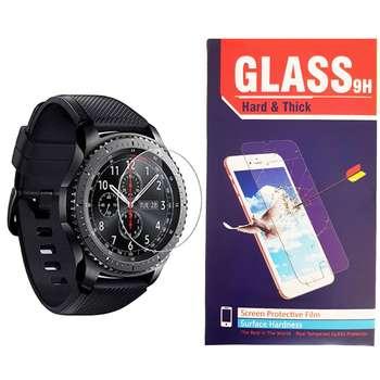 محافظ صفحه نمایش شیشه ای hard and thick مدل clear مناسب برای ساعت های هوشمند سامسونگ مدل Gear S3