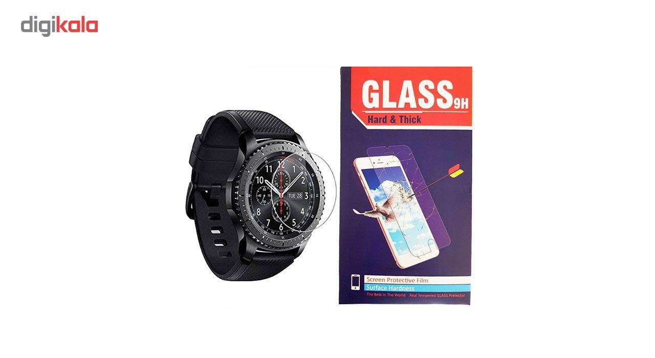محافظ صفحه نمایش شیشه ای hard and thick مدل clear مناسب برای ساعت های هوشمند سامسونگ مدل Gear S3 main 1 1
