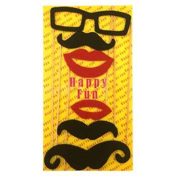 ست سیبیل نمایشی بانیبو مدل Black Mustache بسته 6 عددی