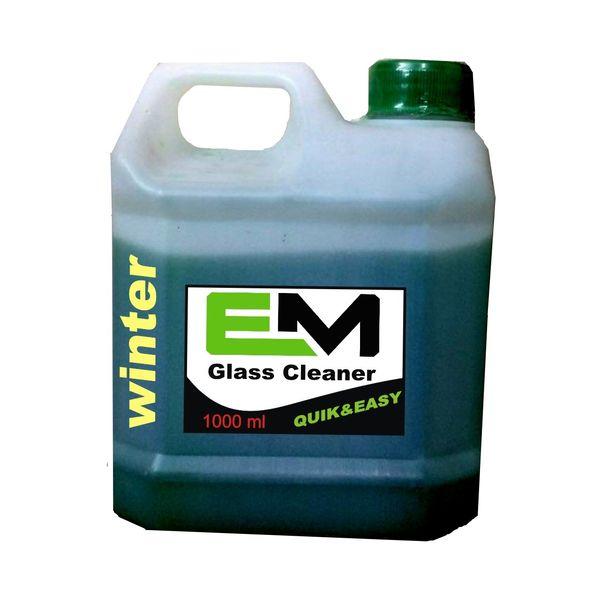 محلول شیشه شوی خودرو ای ام مناسب برای زمستان حجم 1000 میلی لیتر