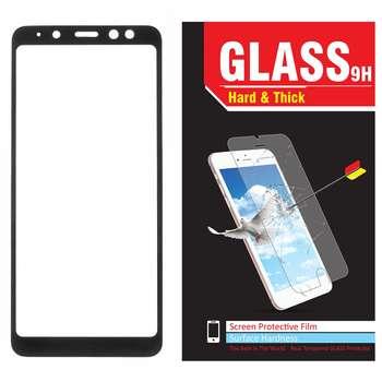 محافظ صفحه نمایش شیشه ای مدل Hard and thick  فول چسب مناسب برای گوشی موبایل سامسونگ A8 Plus 2018