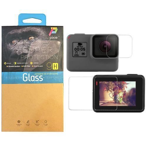 محافظ صفحه نمایش و لنز شیشه ای پیکسی مدل Clear مناسب برای دوربین فیلم برداری ورزشی گوپرو مدل HERO5/6