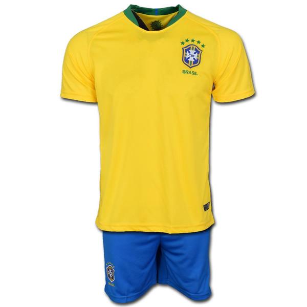 پیراهن و شورت تمرینی تیم برزیل مدل Home-Worldcup2018