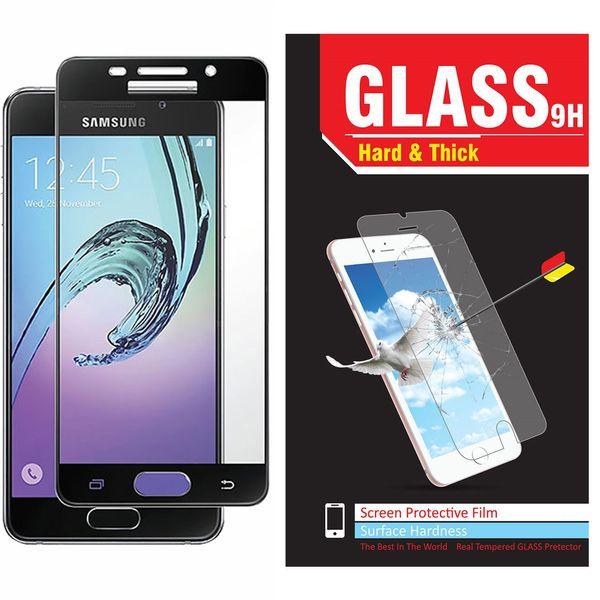 محافظ صفحه نمایش شیشه ای مدل Hard and thick  full cover مناسب برای گوشی موبایل سامسونگ A710/A7 2016