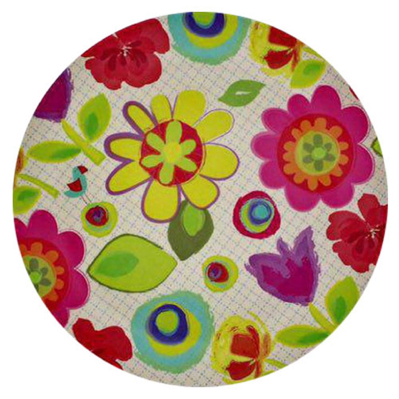 عکس ست پیش دستی بامبو مدل گل کاغذی