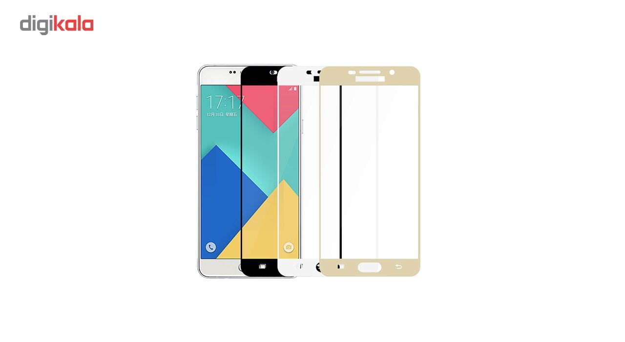محافظ صفحه نمایش شیشه ای مدل Hard and thick  full cover مناسب برای گوشی موبایل سامسونگ A710/A7 2016 main 1 1