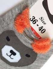 جوراب زنانه پی.تی طرح خرس کد J013 -  - 2