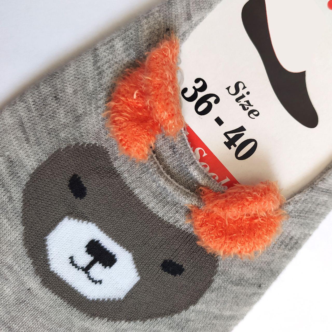 جوراب زنانه پی.تی طرح خرس کد J013 -  - 3