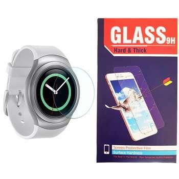 محافظ صفحه نمایش شیشه ای hard and thick مدل clear مناسب برای ساعت های هوشمند سامسونگ مدل Gear S2 / Gear Sport