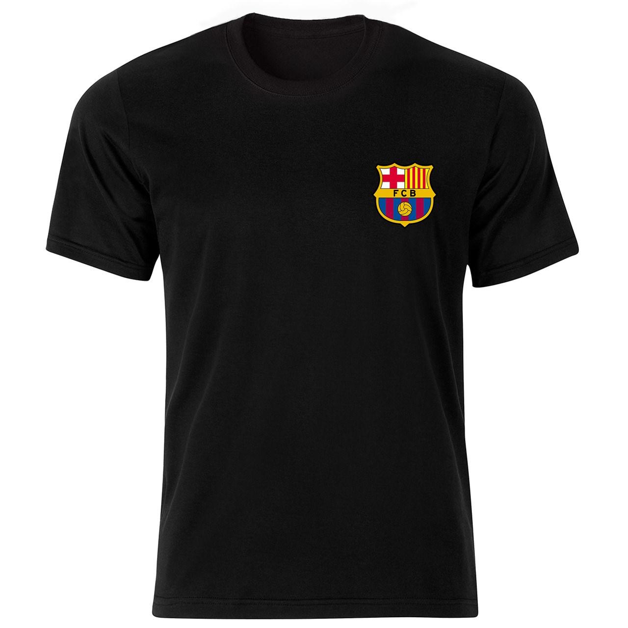 تیشرت آستین کوتاه مردانه بلک اند وایت طرح بارسلونا