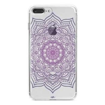 کاور  ژله ای مدل  Purple flower mandala مناسب برای گوشی موبایل آیفون 7 پلاس و 8 پلاس