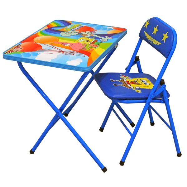 میز و صندلی تحریر تاشو کودک هانیبال مدل باب اسفنجی