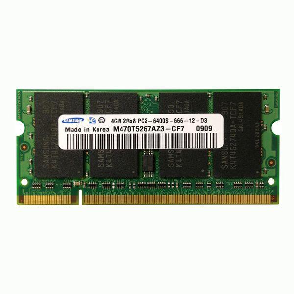 رم لپ تاپ سامسونگ مدل DDR2 PC2 6400s MHz ظرفیت  4گیگابایت | Samsung DDR2 PC2 6400s MHz RAM - 4GB
