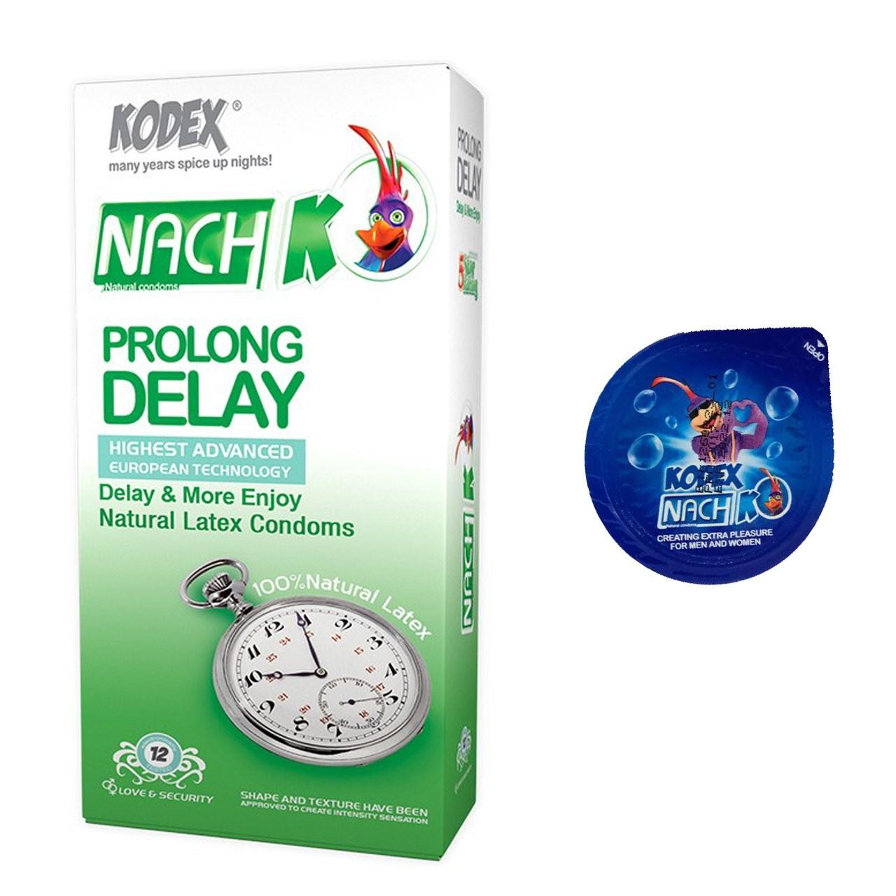 خرید                      کاندوم محرک مدل بلیسر کدکس به همراه یک بسته کدکس مدل Prolong Delay بسته 12 عددی