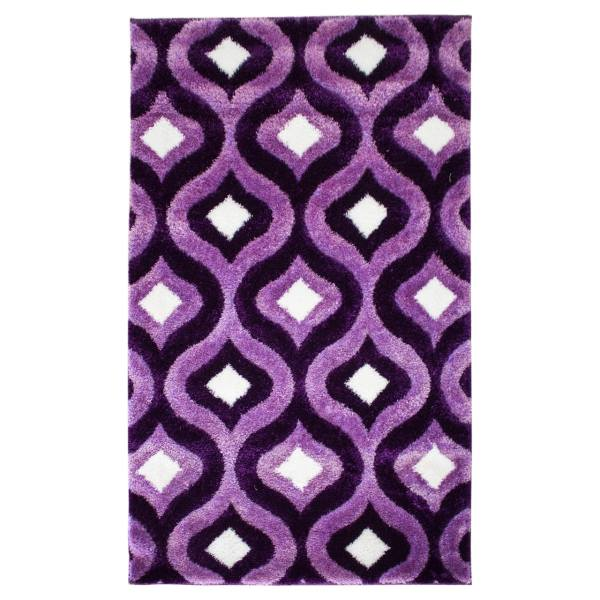 فرش ماشینی استقلال طرح 3 D کد 1013 زمینه بنفش