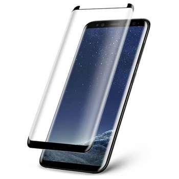 محافظ صفحه نمایش شیشه ای دور چسب مدل 3D مناسب برای گوشی سامسونگ S8 پلاس