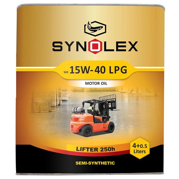 روغن موتور سینولکس مدل لیفتر 15W-40 LPG ظرفیت 4.5 لیتر