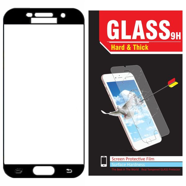محافظ صفحه نمایش شیشه ای Hard and thick مدل full cover مناسب برای گوشی موبایل سامسونگ  A520/A5 2017