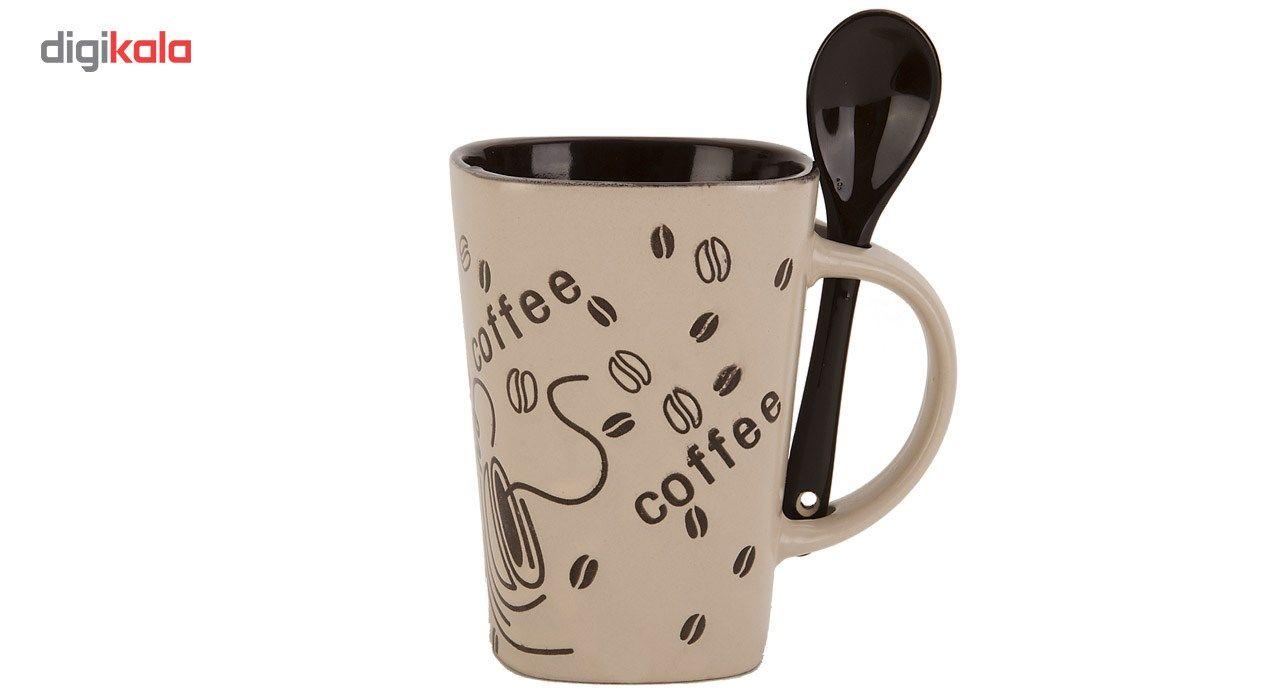 لیوان قاشق دار راشا مدل Coffee 3 main 1 1