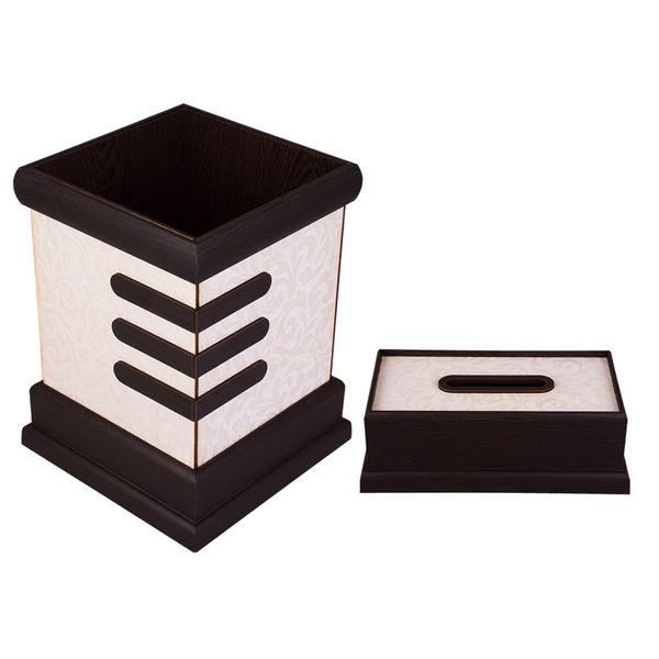 ست سطل و جای دستمال کاغذی سیبک کد SD-23