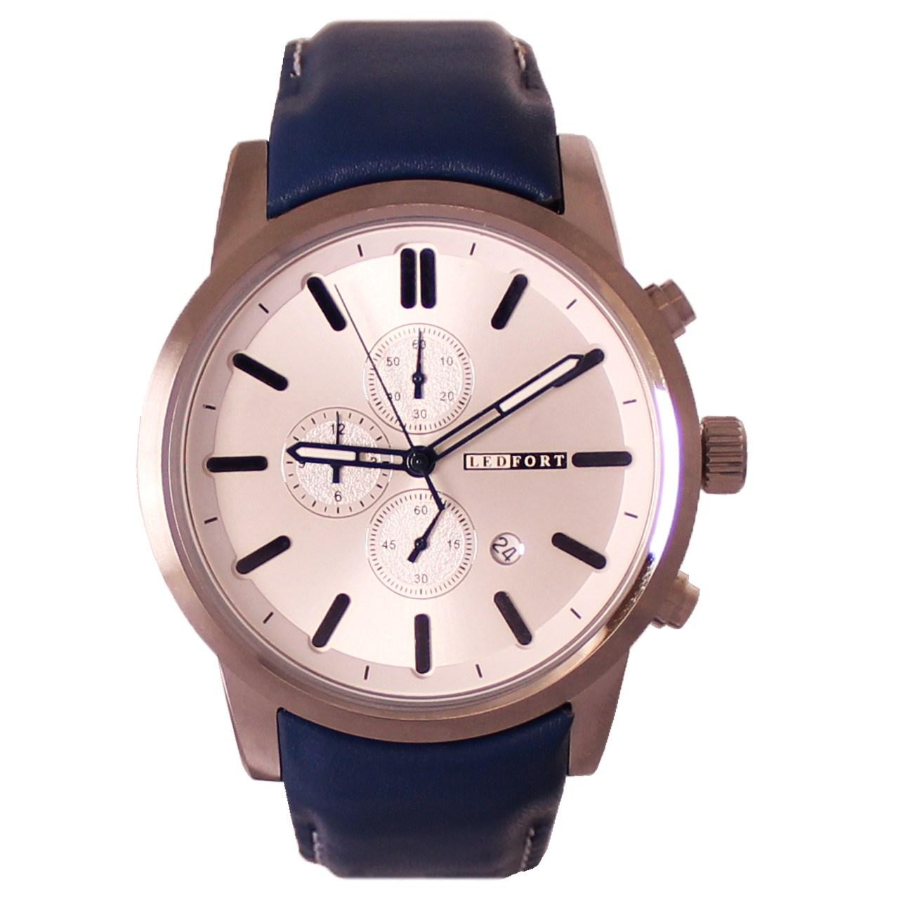ساعت مچی عقربه ای مردانه لدفورت مدل کرنوگراف کد MK-0001