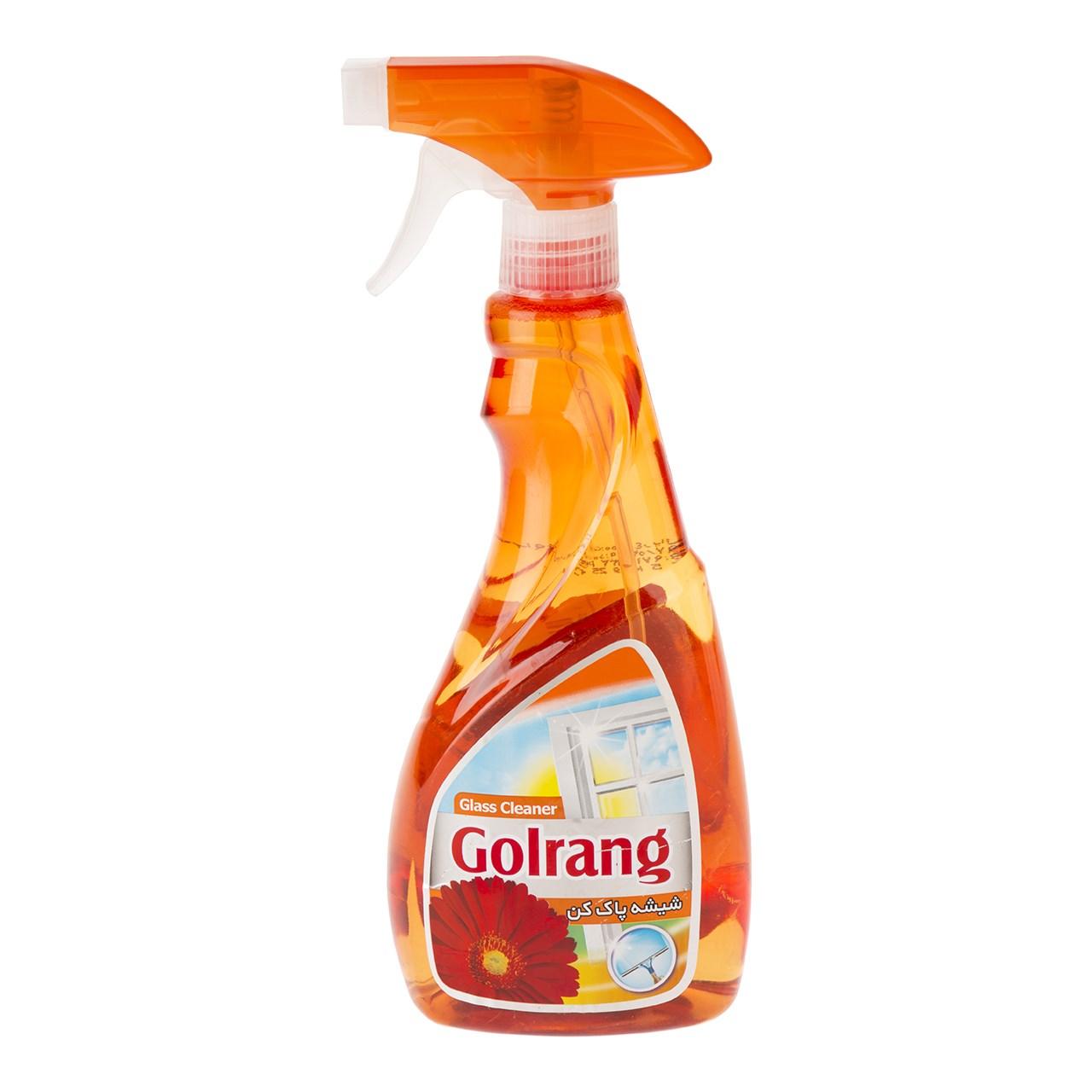 شیشه پاک کن نارنجی گلرنگ حجم 500 گرم