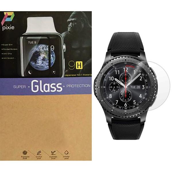 محافظ صفحه نمایش شیشه ای پیکسی  مدل 2.5D  مناسب برای ساعت هوشمند سامسونگ مدل Gear S3