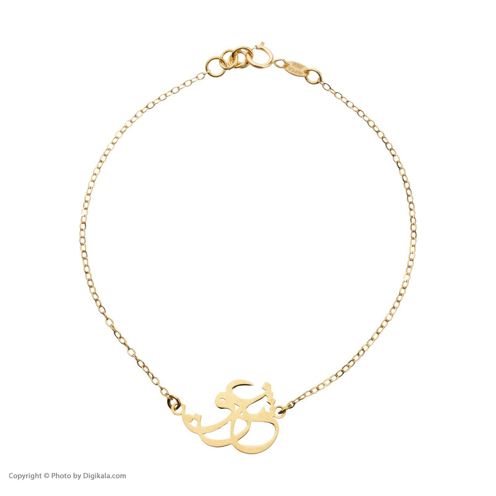 دستبند طلا 18 عیار زنانه میو گلد مدل GD606 -  - 3