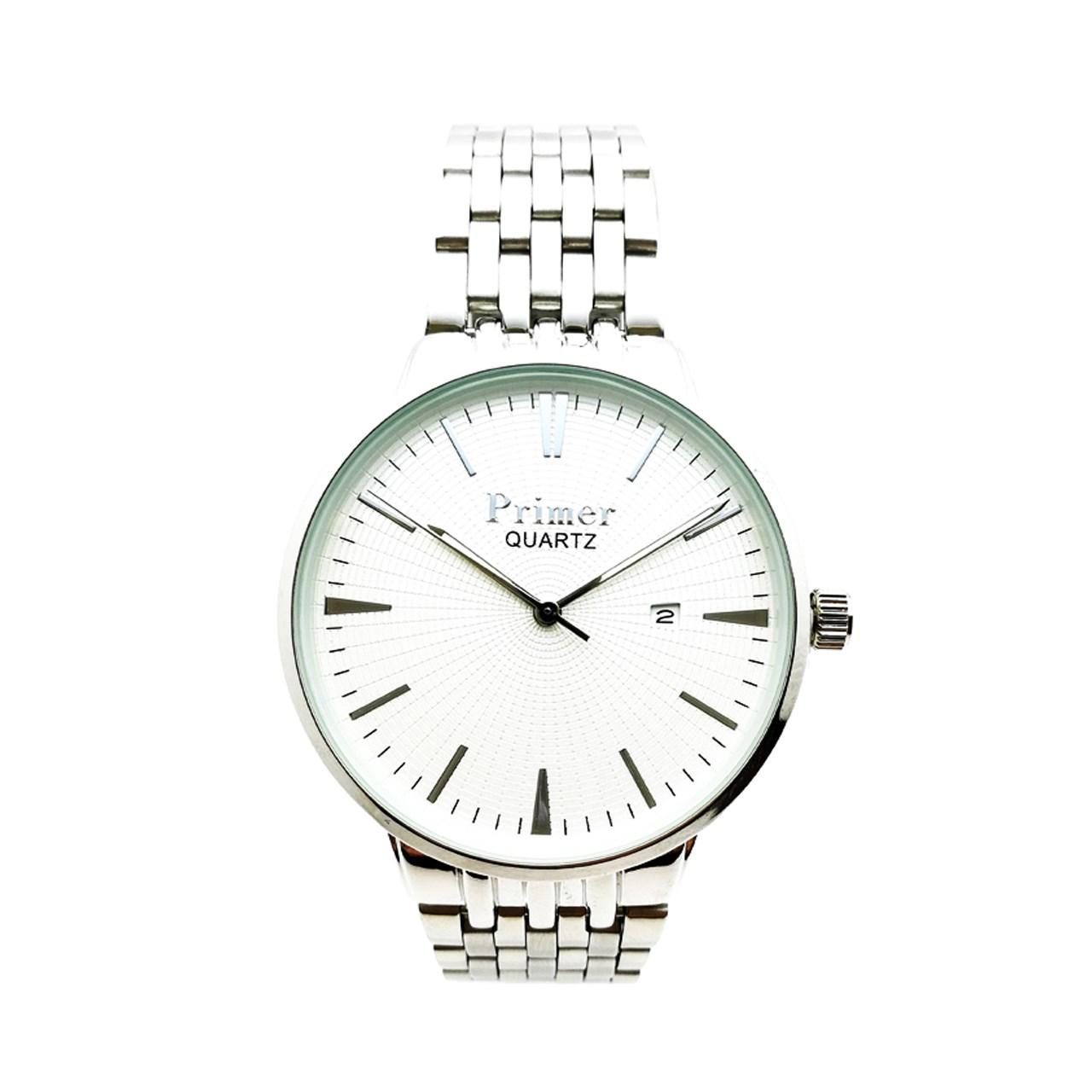 ساعت مچی عقربه ای مردانه پرایمر مدل PM-5061-s-white