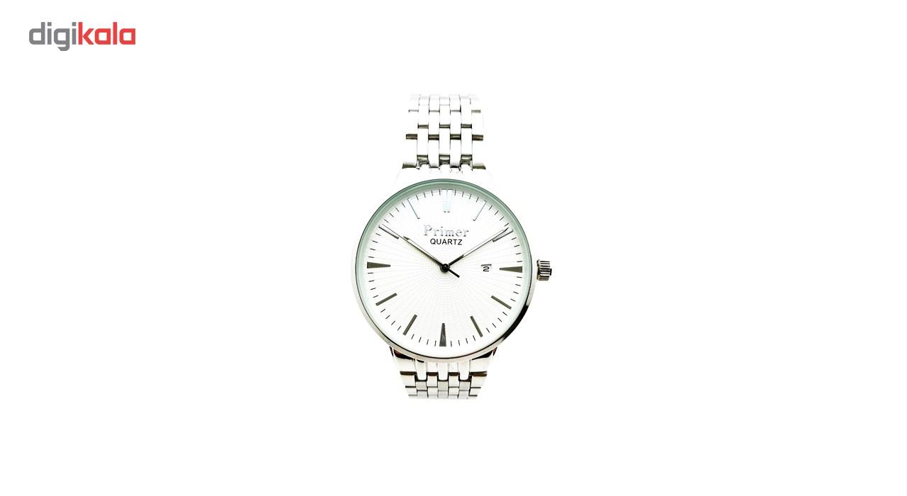خرید ساعت مچی عقربه ای مردانه پرایمر مدل PM-5061-s-white | ساعت مچی