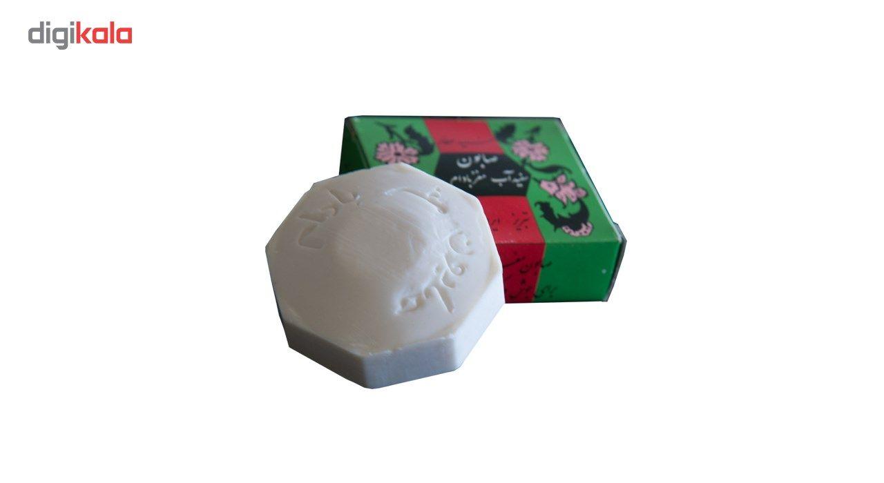 صابون سید عطار مدل سفید آب و مغز بادام برای جوش و لک صورت حجم 50 گرم main 1 4