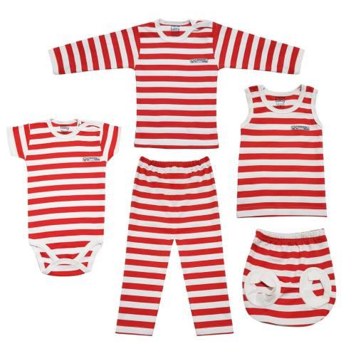 ست لباس نوزادی آلما مدل 2563