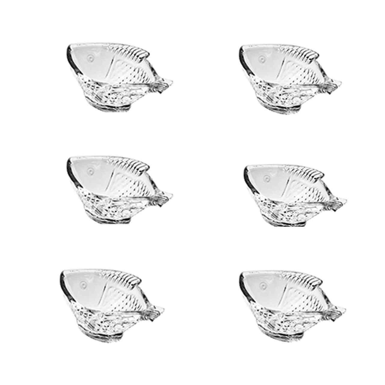 عکس پیاله بلور کاوه مدل Fiterfish بسته 6 عددی
