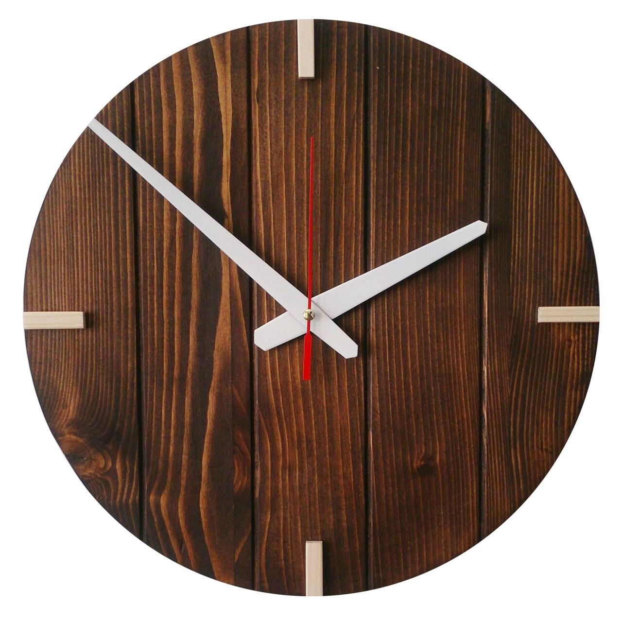 ساعت دیواری چوبی کد 04