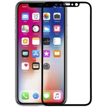 محافظ صفحه نمایش شیشه ای مدل 5D Plus Protect مناسب برای گوشی اپل iPhone X