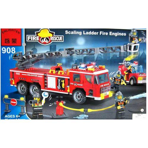 لگو آتش نشانی انلایتن مدل 908 تعداد 607 قطعه