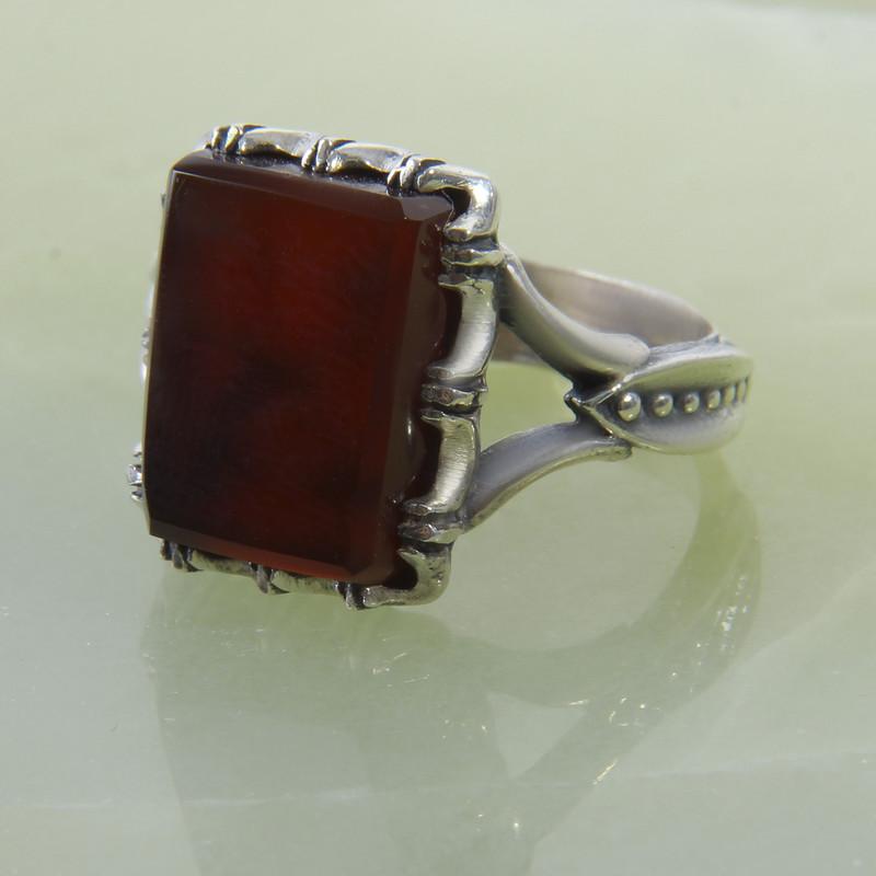 انگشتر نقره مردانه بازرگانی میلادی کد AM_260