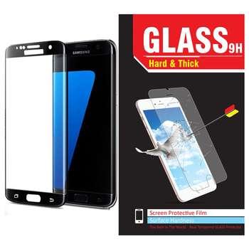 محافظ صفحه نمایش شیشه ای مدل Hard and thick  فول چسب مناسب برای گوشی موبایل سامسونگS7 Edge