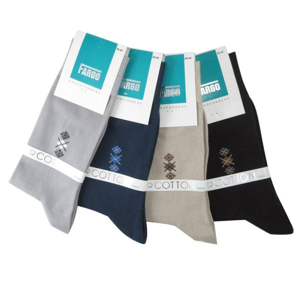 جوراب مردانه فارگو مدل R602-A005  بسته 4 جفتی