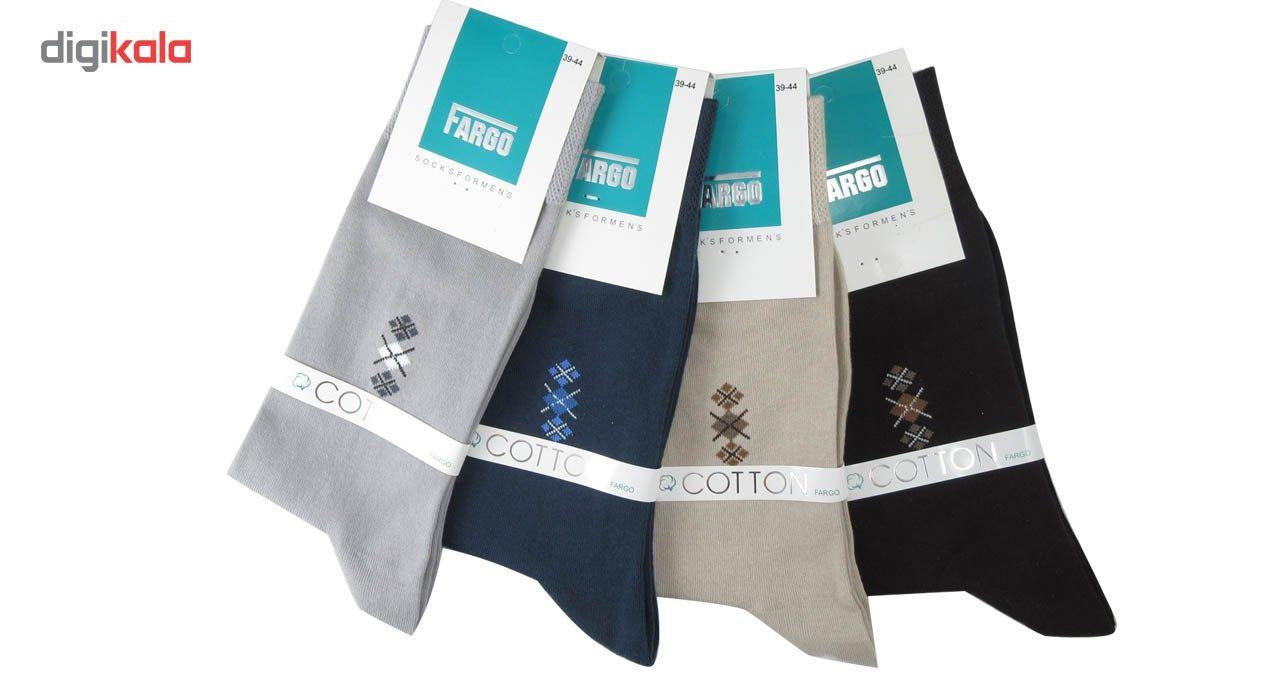 جوراب مردانه فارگو مدل R602-A005  بسته 4 جفتی main 1 1