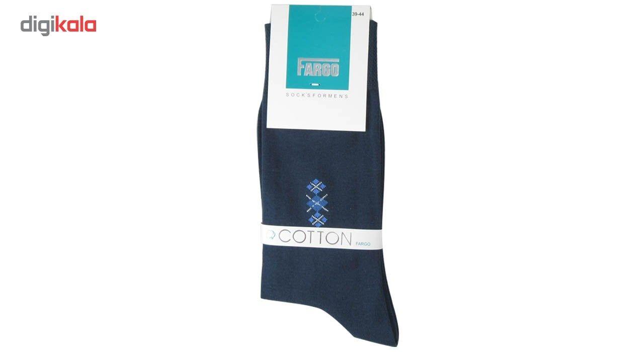 جوراب مردانه فارگو مدل R602-A005  بسته 4 جفتی main 1 3