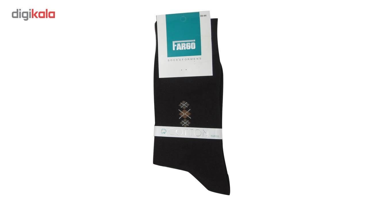 جوراب مردانه فارگو مدل R602-A005  بسته 4 جفتی main 1 5