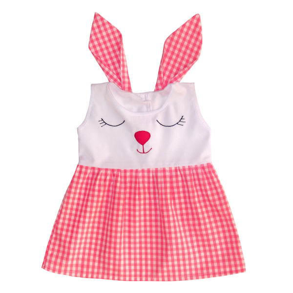 پیراهن دخترانه طرح خرگوش کد 1170