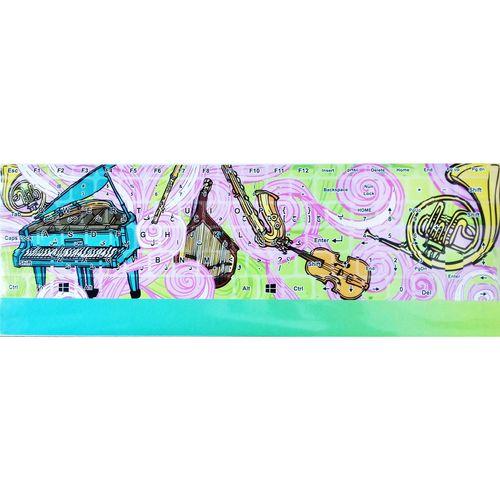 برچسب حروف فارسی کیبورد طرح موزیک